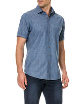 Port Nelson Shirt, DENIM, hi-res