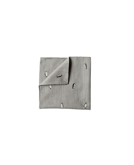 Kenwyn Street Pocket Square/Steel 1, STEEL, hi-res