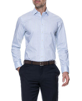Brackley Tailored Shirt/Sky 46/XXXL, SKY, hi-res