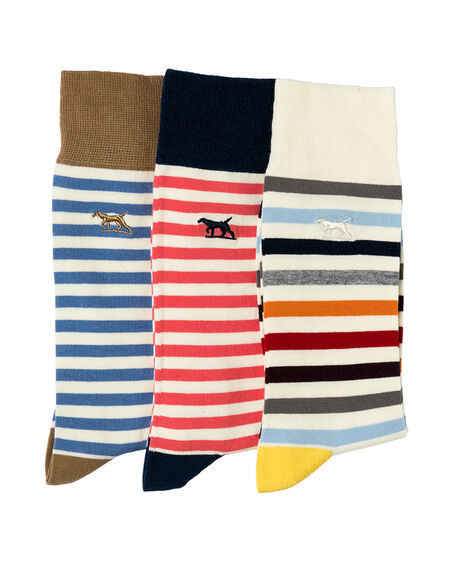 Slipper Island Three Pack Sock/Assorted 0, ASSORTED, hi-res