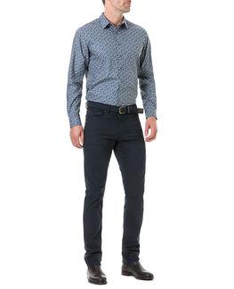 Chappel West Sports Fit Shirt/Blue Graphite XS, BLUE GRAPHITE, hi-res