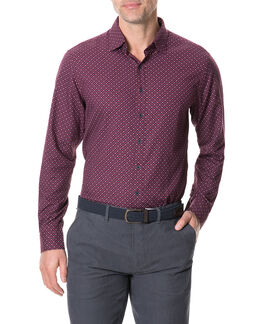 Meadowood Sports Fit Shirt/Plum LG, PLUM, hi-res