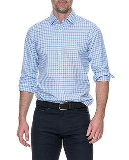 Shorecliffe Sports Fit Shirt, SKY, hi-res