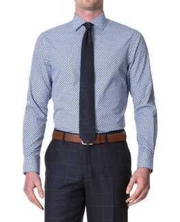 Skinners Lane Slim Fit Shirt/Royal 38, ROYAL, hi-res