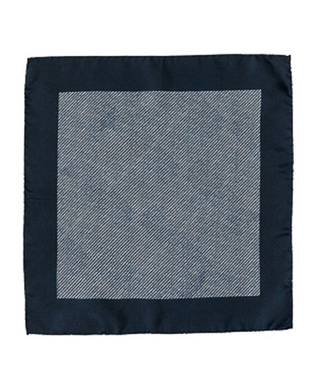 Chaldon Street Pocket Square/Navy 1, NAVY, hi-res