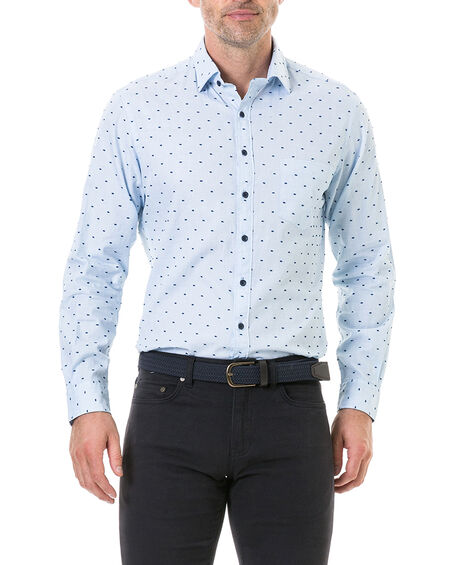 Fraser Road Sports Fit Shirt, SKY, hi-res