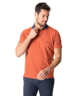 Inlet Sports Fit Polo, BURNT ORANGE, hi-res