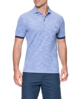 Hampstead Sports Fit Polo/Stonewash ME, STONEWASH, hi-res