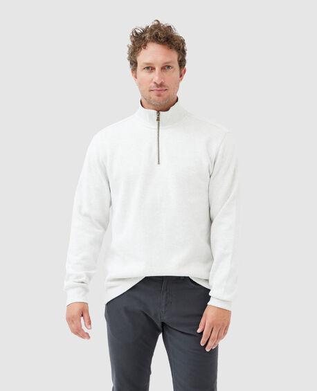 Alton Ave 1/4 Zip Sweatshirt, ICE GREY MARLE, hi-res