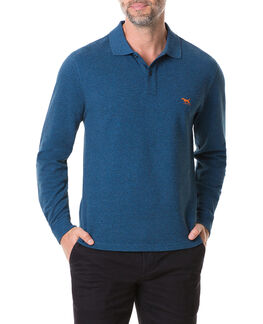 Long Sleeve Gunn Polo, ULTRAMARINE, hi-res