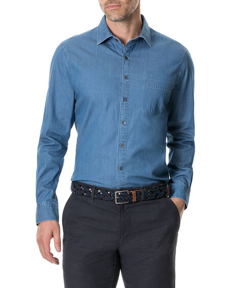 Tinline River Shirt, DENIM, hi-res