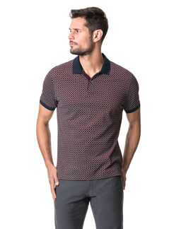 Brookdale Sports Fit Polo, BURGUNDY, hi-res