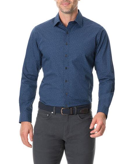 Arkles Bay Sports Fit Shirt, MARINE, hi-res