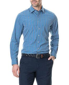 Napier Grove Sports Fit Shirt, DENIM, hi-res