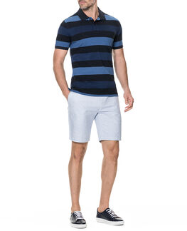Hutt Valley Sports Fit Polo/Navy ME, NAVY, hi-res