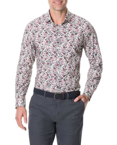 Allenton Sports Fit Shirt, IVORY, hi-res