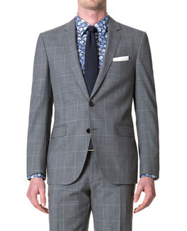 Monkwell Slim Fit Jacket/Ash 36R, ASH, hi-res