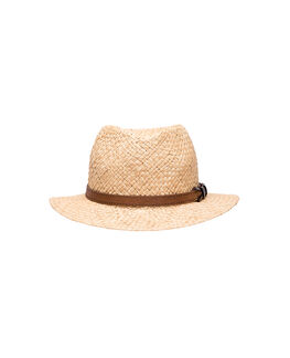 Piemelon Bay Straw Hat/Natural ME, NATURAL, hi-res