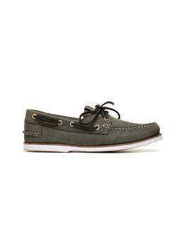 Quail Island Boat Shoe, ARMY, hi-res