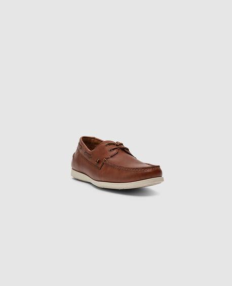 Gordons Bay Boat Shoe, COGNAC, hi-res