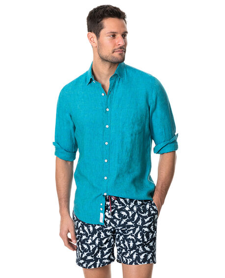 Coromandel Sports Fit Shirt, TEAL, hi-res
