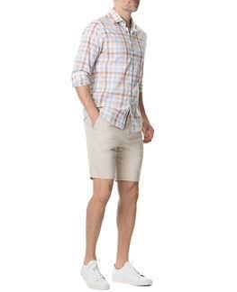 Collingwood Sports Fit Shirt/Walnut XS, WALNUT, hi-res
