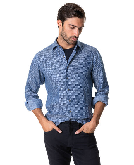 Sea Marina Sports Fit Shirt, DENIM, hi-res