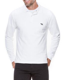 Long Sleeve Gunn Polo, WHITE, hi-res