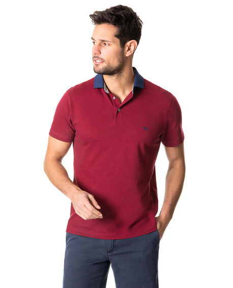 Inlet Sports Fit Polo, CRIMSON, hi-res