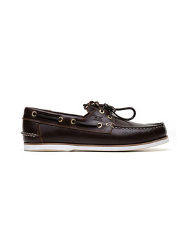 Quail Island Boat Shoe, CHOCOLATE, hi-res