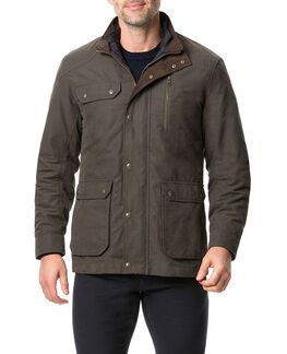 Harper Waxed Jacket, OLIVE, hi-res