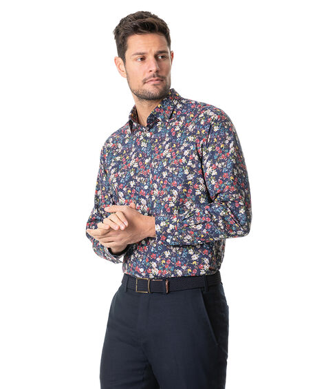 Foxton Sports Fit Shirt, MARINE, hi-res