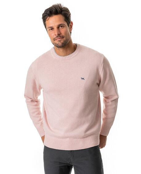 Gunn Crew Sweater, CORAL PINK, hi-res