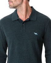 Long Sleeve Gunn Polo, DEEP FOREST, hi-res