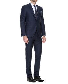 Whitfield Slim Fit Jacket, INK BLUE, hi-res