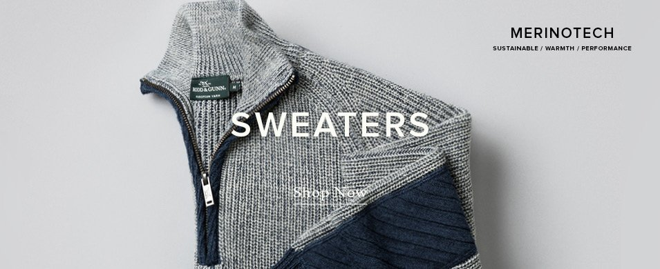 Merinotech. Sustainable. Warmth. Performance. Sweaters. Shop Now.