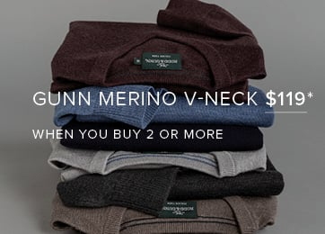 Gunn Merino V-neck $119* When you Buy 2 Or More* - Shop Now