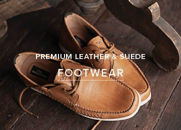 Premium Leather & Suede- Shop Footwear