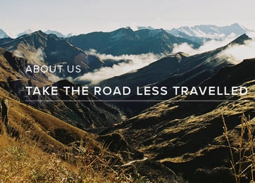 About Us. Take The Road Less Travelled