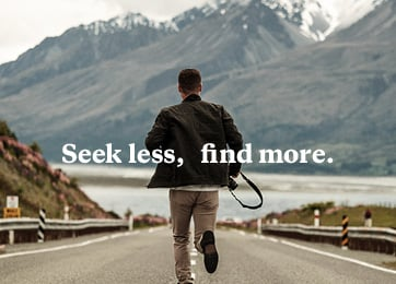 About Us. Seek less, find more