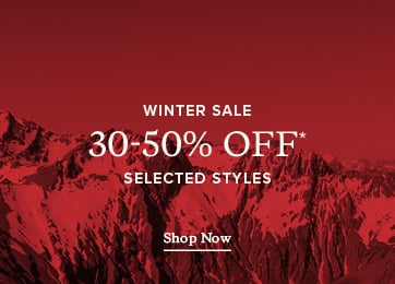 Winter Sale 30- 50% OFF* Selected Styles* - Shop Now.